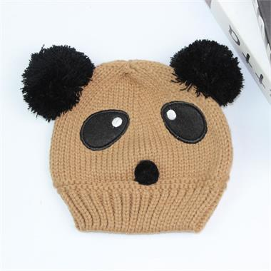 07269994b36b8 Brown Panda style Beanie Hat for Children